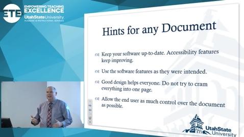 "Thumbnail for entry David Pruden "" Avoiding PDF"""