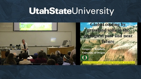 Thumbnail for entry Dr. Gregory Retallack - Global Cooling by Grassland Soils in the Geological Past and Near Future