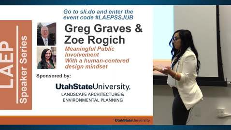 Thumbnail for entry Spring 2019 – Landscape Architecture Speaker Series – Greg Graves & Zoe Rogich
