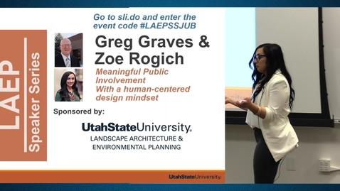 Thumbnail for entry Spring 2019 – Landscape Architecture Speaker Series – Greg Graves & Zoe Rogich