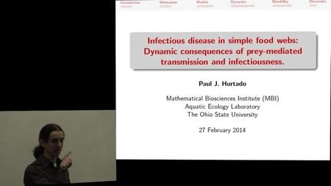 Thumbnail for entry Paul J. Hurtado - Mathematical Bioscience Institute Aquatic Ecology Laboratory