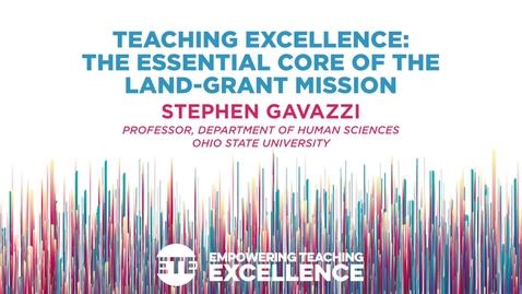 Thumbnail for entry Keynote: Stephen Gavazzi