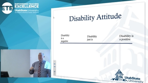 """Thumbnail for entry David Pruden """"Disability Just Is"""""""