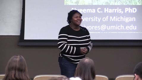 Thumbnail for entry Ecology Seminar Series – Dr. Nyeema Harris