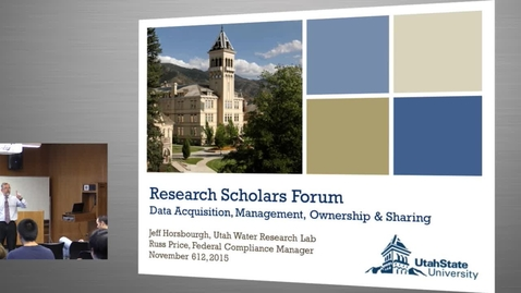 Thumbnail for entry Fall 2015 Research Scholars Forum