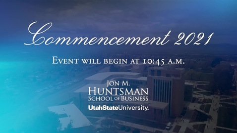 Thumbnail for entry Jon M Hunstman 10am Commencement - 2021