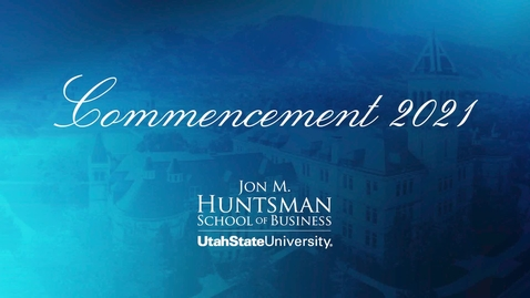 Thumbnail for entry Jon M Hunstman 8am Commencement - 2021