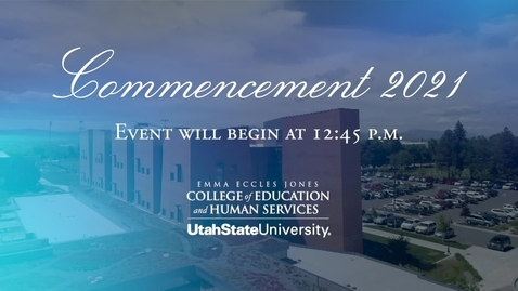 Thumbnail for entry CEHS 2021 Convocation - Graduate Degrees