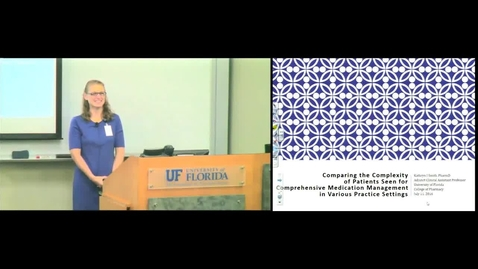 PTR July 11th 2016 - Kate Smith - Comparing the Complexity of Patients Seen for Comprehensive Medica