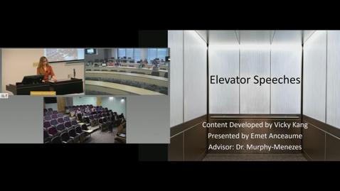 Thumbnail for entry Elevator Speeches Seminar
