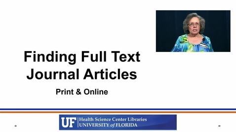 Thumbnail for entry Finding Fulltext Journal Articles