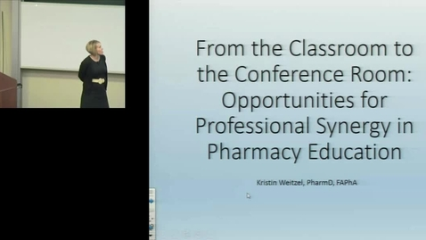 PTR August 19th 2016 - Kristin Weitzel - From the classroom to the conference room