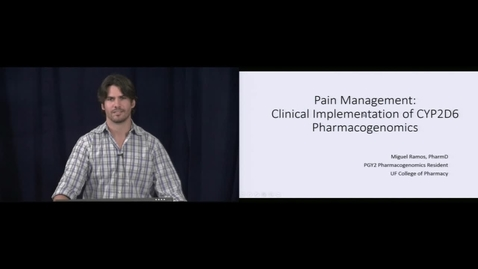 Thumbnail for entry Pain Management and Clinical Implications of CYP2D6 Pharmacogenomics