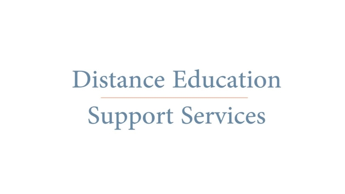 Distance Education Support Services