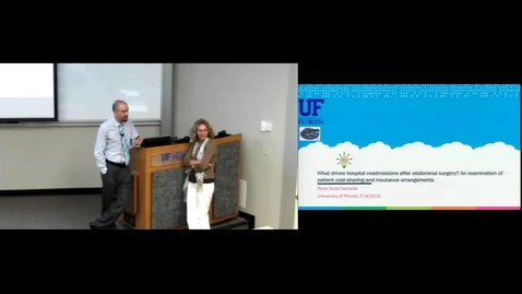 Thumbnail for entry POP July 14th 2016 - Rene Saria-Saucedo - Patient Cost-sharing and Insurance Arrangements