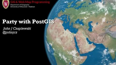 Thumbnail for entry Party with PostGIS (John J. Czaplewski)
