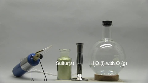 Thumbnail for entry Burning Sulfur in Oxygen