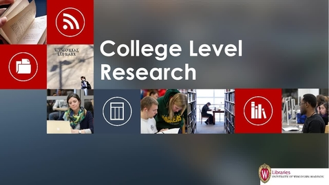 Thumbnail for entry College Level Research