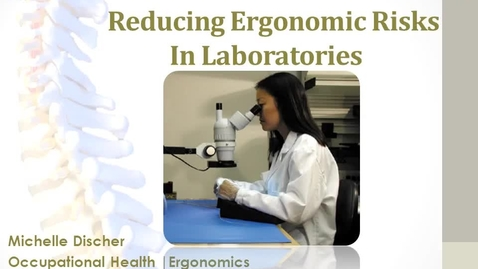 Thumbnail for entry LaboratoryErgonomics