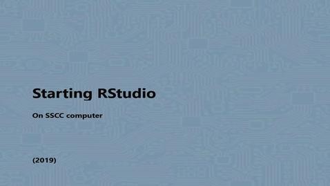 Thumbnail for entry Starting RStudio