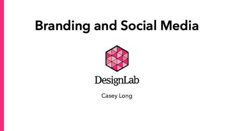 Thumbnail for entry Designing Branding and Social Media