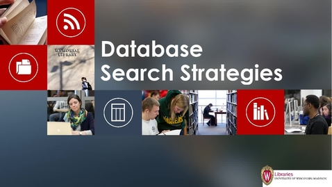 Thumbnail for entry Database Search Strategies