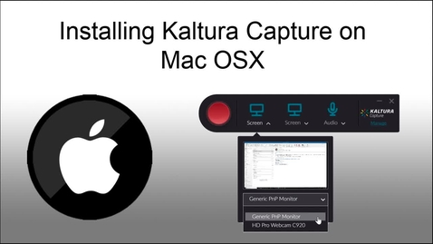 Thumbnail for entry Installing Kaltura Capture on OSX (April 2019)