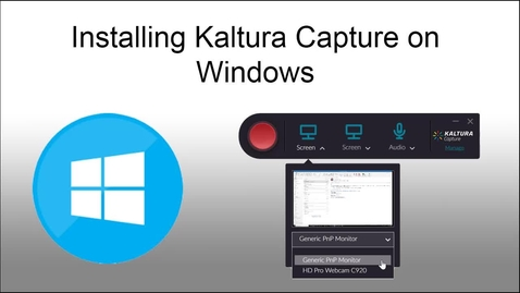 Thumbnail for entry Installing Kaltura Capture on Windows (March 2019)