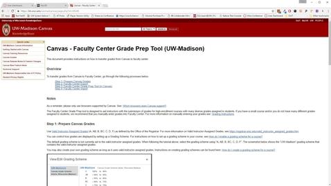 Thumbnail for entry Canvas - Faculty Center Grade Prep Tool (UW-Madison)