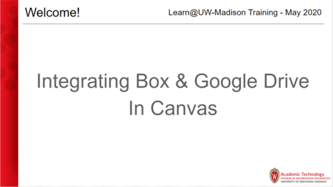 Thumbnail for entry Integrating Box & Google Drive in Canvas
