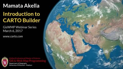 Thumbnail for entry Introduction to CARTO Builder, Mamata Akella