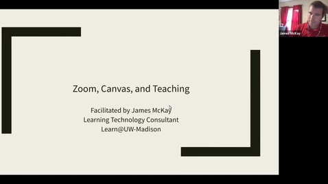 Thumbnail for entry Zoom & Teleconferencing Inside and Outside a Canvas Course