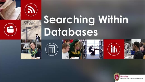 Thumbnail for entry Searching Within Databases