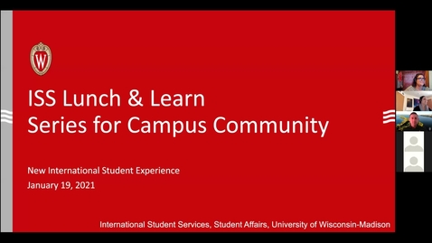 Thumbnail for entry ISS Lunch & Learn for Campus Partners_ New International Student Experience