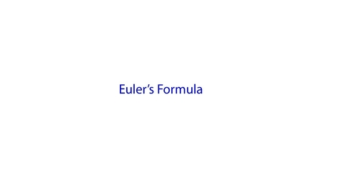 Thumbnail for entry Eulers Formula