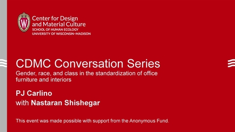 Thumbnail for entry CDMC Conversation Series: PJ Carlino and Nastaran Shishegar