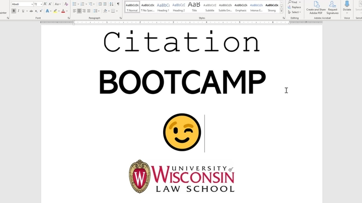 Thumbnail for channel Citation Bootcamp