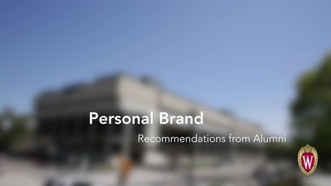 Thumbnail for entry L&S Alumni Recommendations: Personal Brand