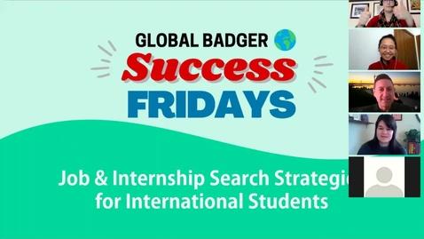 Thumbnail for entry Job & Internship Search Strategies_Global Badger Success Friday