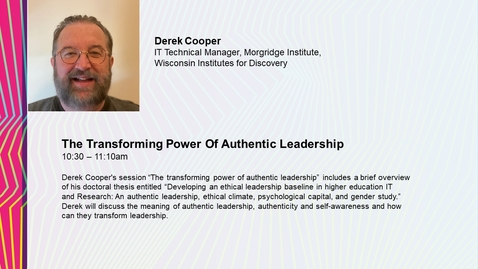 Thumbnail for entry The Transforming Power of Authentic Leadership