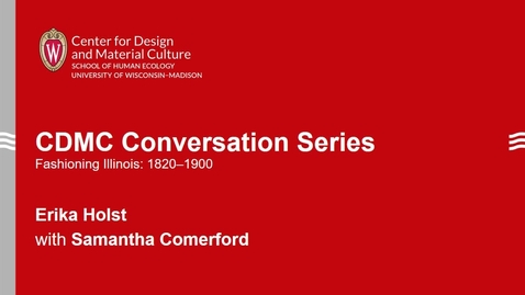 Thumbnail for entry CDMC Conversation Series: Erika Holst