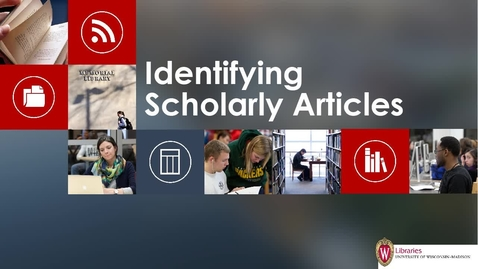 Thumbnail for entry Identifying Scholarly Articles