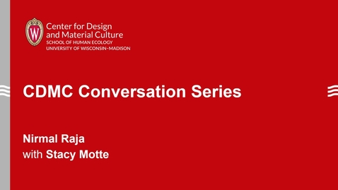 Thumbnail for entry CDMC Conversation Series: Nirmal Raja