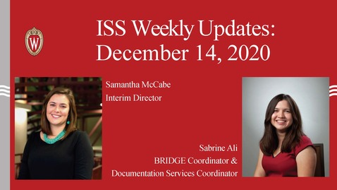 Thumbnail for entry ISS Weekly Update December 14-18