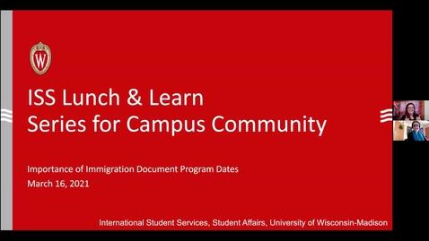 Thumbnail for entry Lunch&Learn Program Start & EndDates