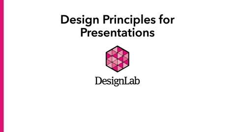 Thumbnail for entry Designing Pre-Recorded or Voiced-Over Presentations