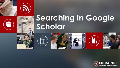 Thumbnail for entry Searching in Google Scholar