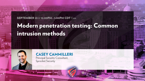 Thumbnail for entry Modern Penetration Testing - Common Intrusion Methods