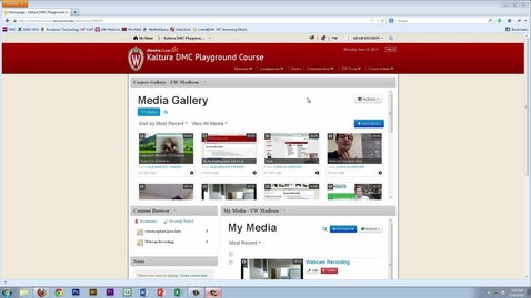 Thumbnail for entry Kaltura D2L Overview (UW-Madison Digital Media Center)