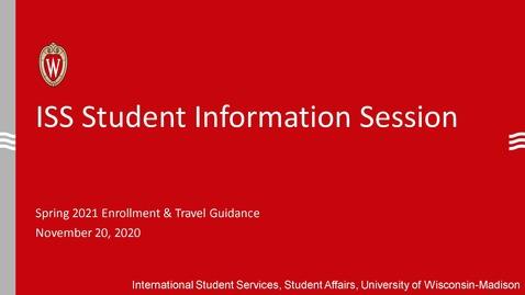 Thumbnail for entry International Student Town hall- Spring 2021 Enrollment & Winter Travel Guidance